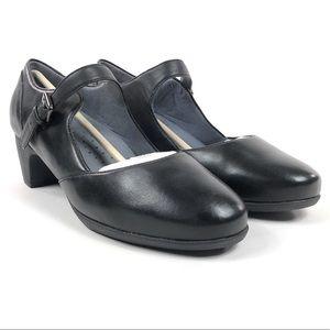 Softwalk Irish II Black Mary Jane Pump Heels Wide